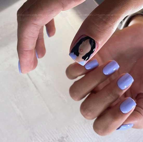 Delicate unusual manicure