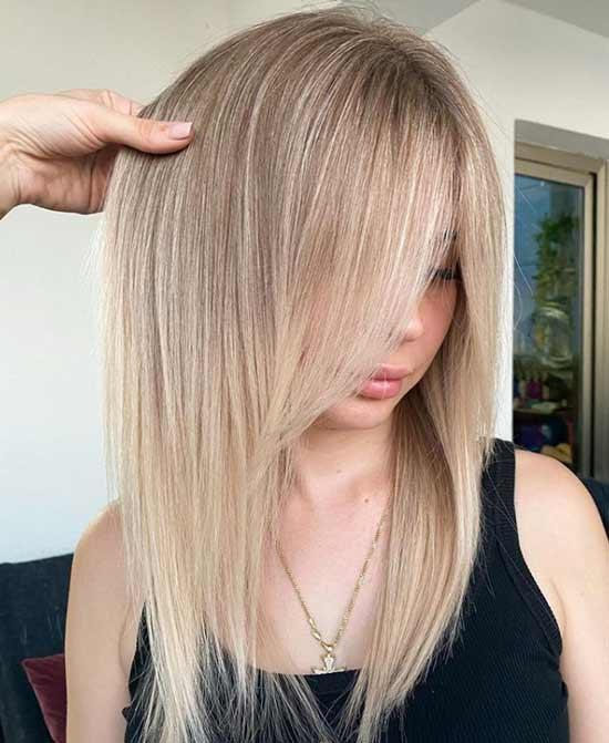 Long hair and bangs