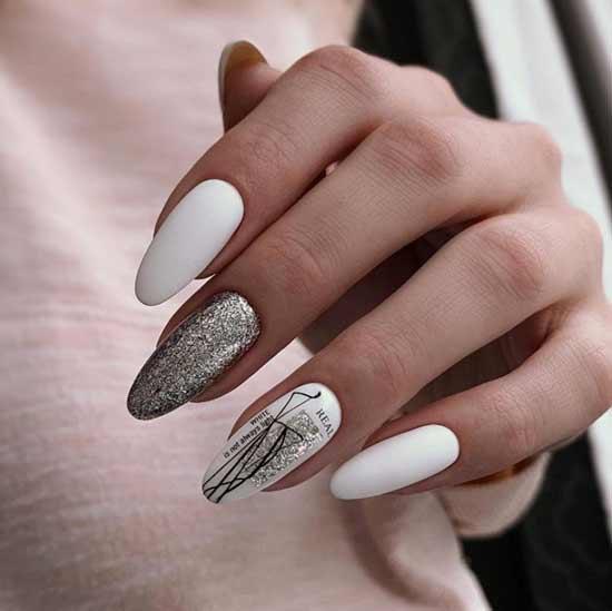 White winter nail design