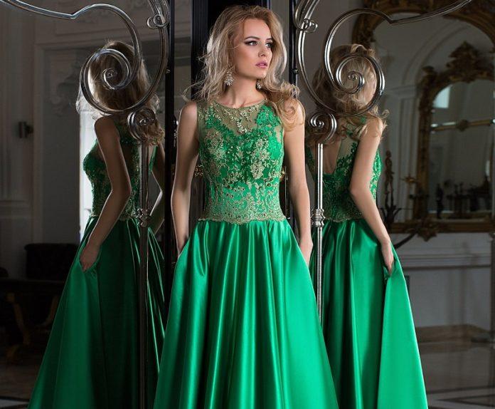 Green dresses 2021-2022, trendy green dresses