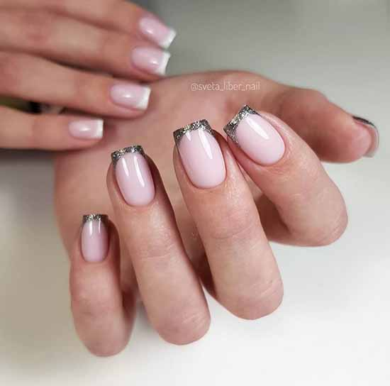 Nude different hands with sequins
