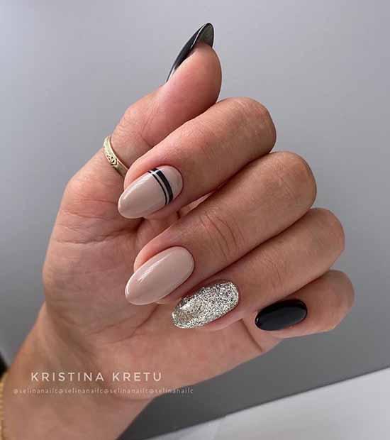 Geometry glitter on nails