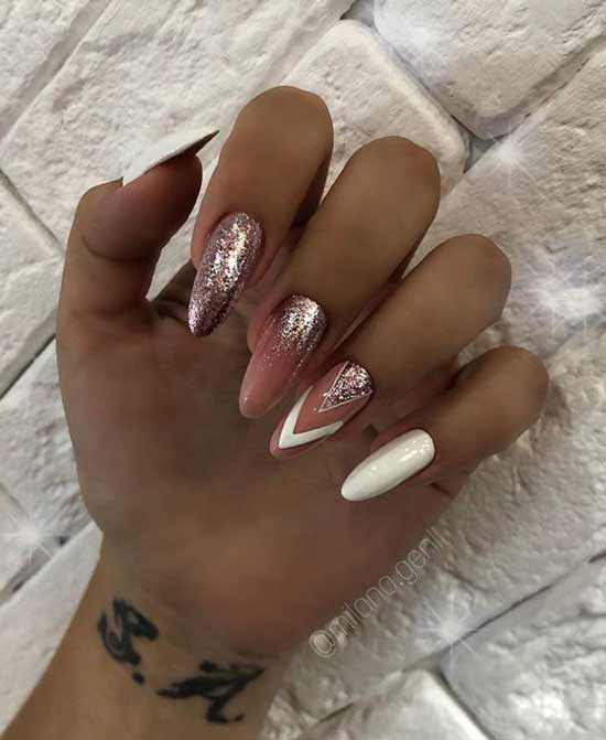 Nude white with sequins