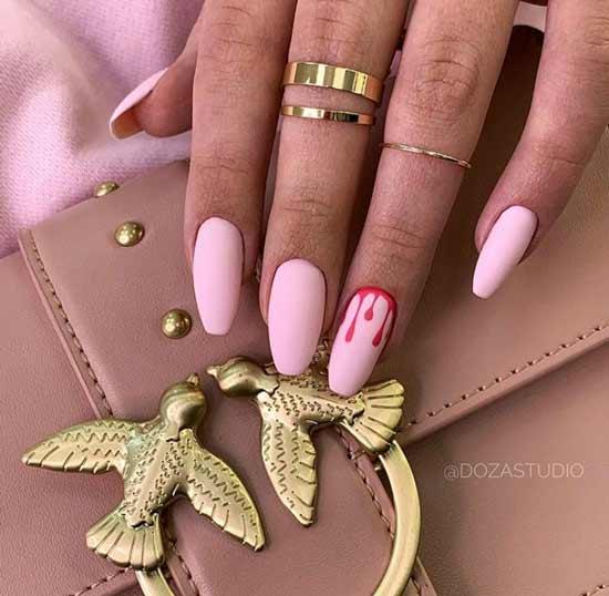 Long matte pink marigolds