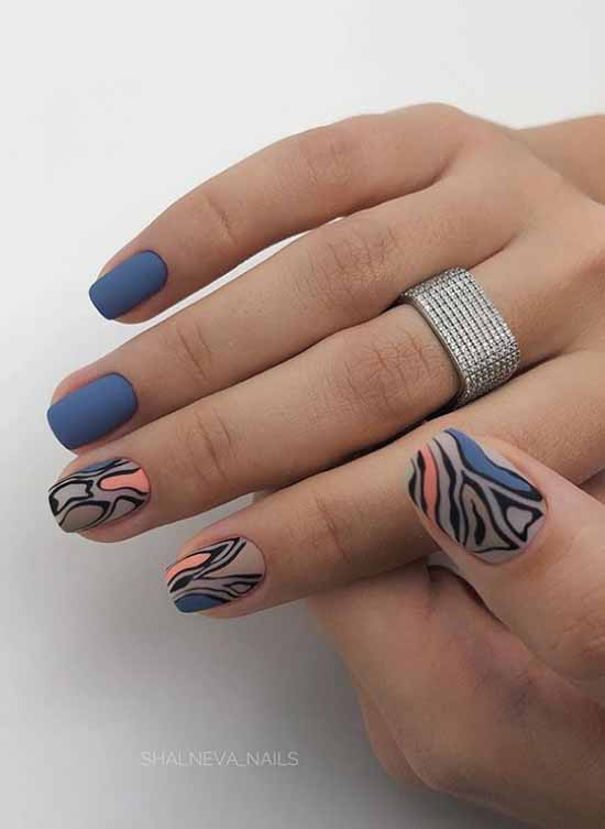 Gray manicure