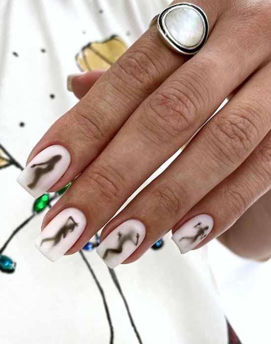Light matte nails