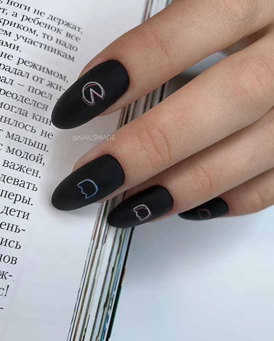 Black nails painting