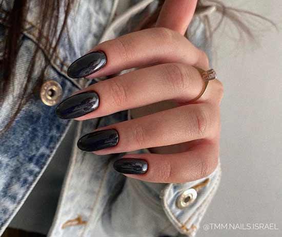 Long solid black marigolds