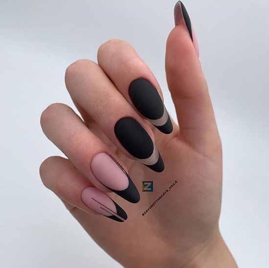 Black jacket on long nails