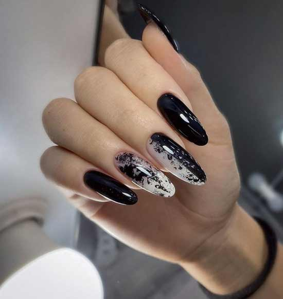 Black for long nails