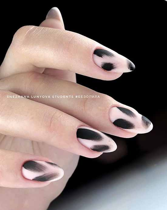 Black manicure for long nails: photo, new beautiful design