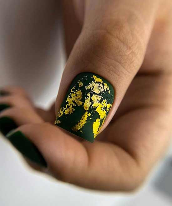 Dark green design with foil