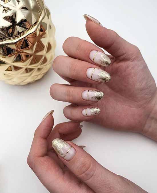Foil nail design: photo, fashionable manicure novelties