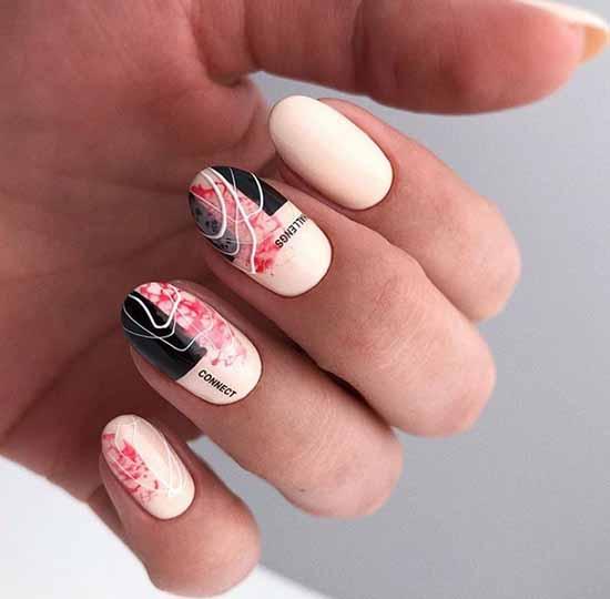 Spider web design on nails