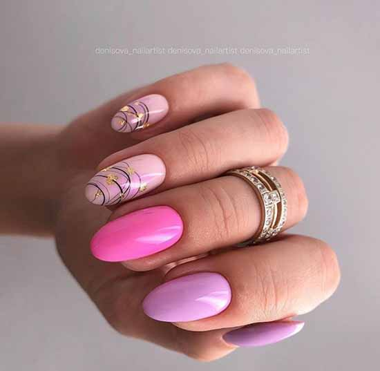 Spider web on nails