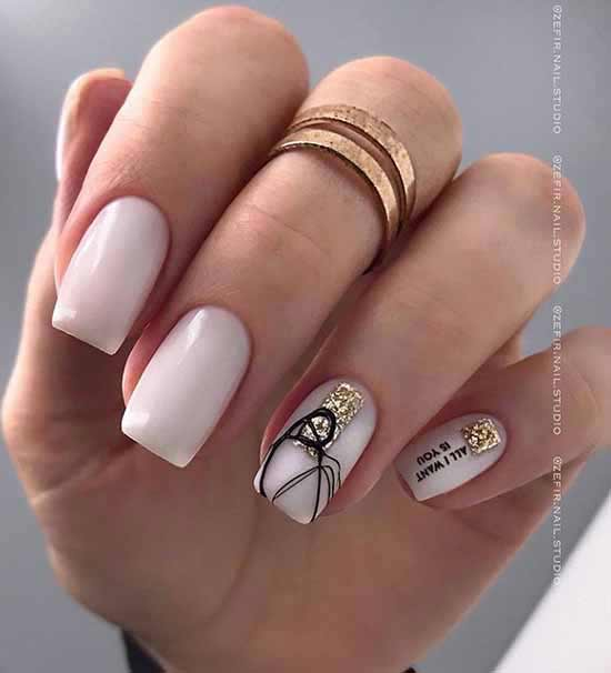 New nail designs with spider webs