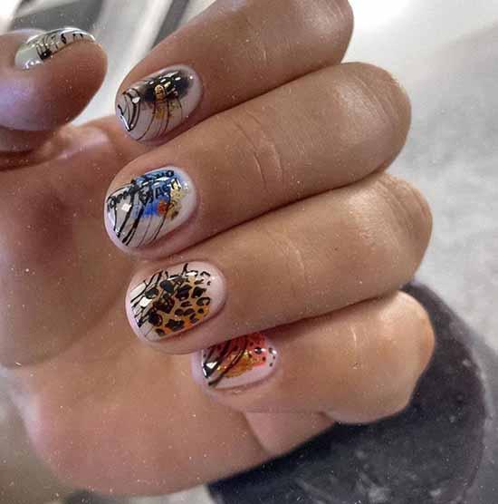"""Cobweb"" on nails: design, 100 photos of a beautiful manicure"