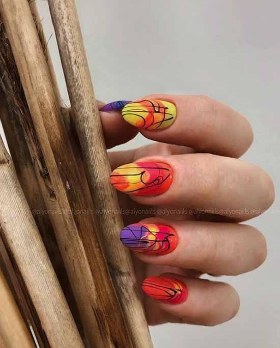 Spiderweb & Foil Nails