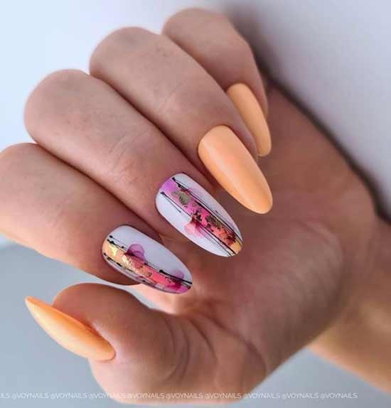 Spider web nail design
