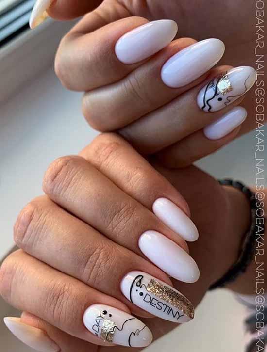 Beautiful spider web nail design