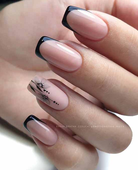 French manicure with a pattern: French novelties 2021