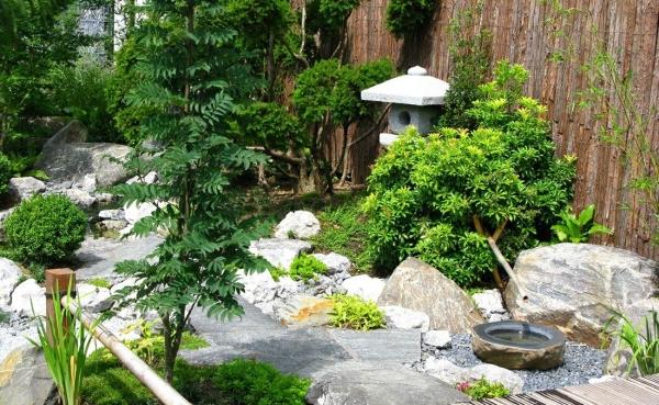Japanese style garden corner