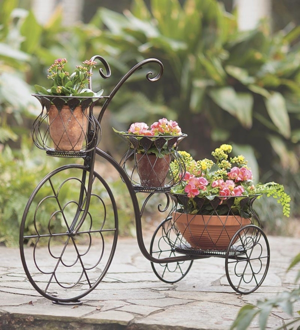 Forged bike - flower stand