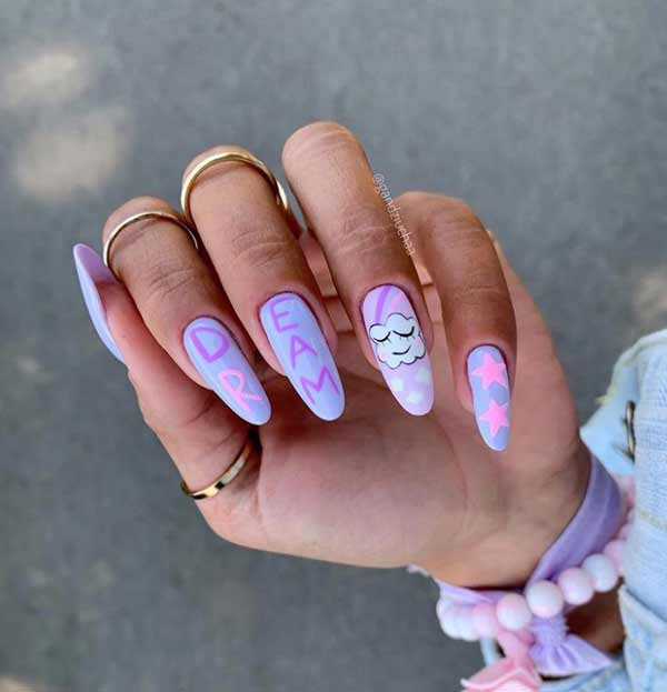 Cloud on nails photo