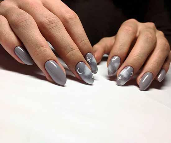 Manicure with clouds: photo ideas, stylish design novelties