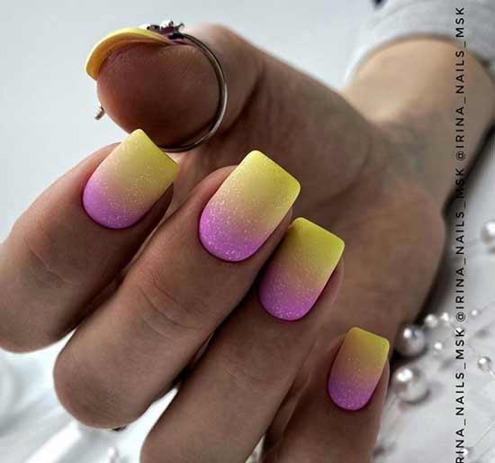 Gradient neon with sparkles