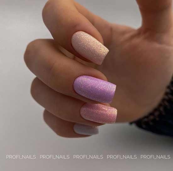 Multi-colored glitter manicure