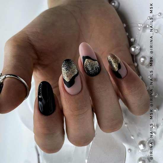 Design black with sequins