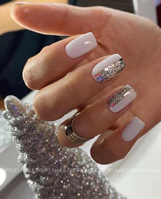White christmas design with sparkles