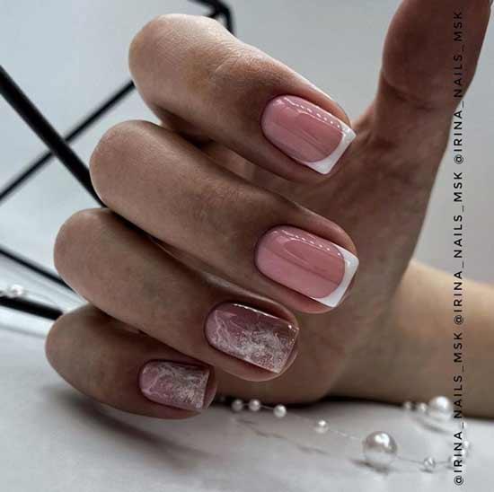 Glitter short nails design