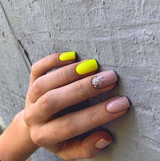 beautiful nails with glitter