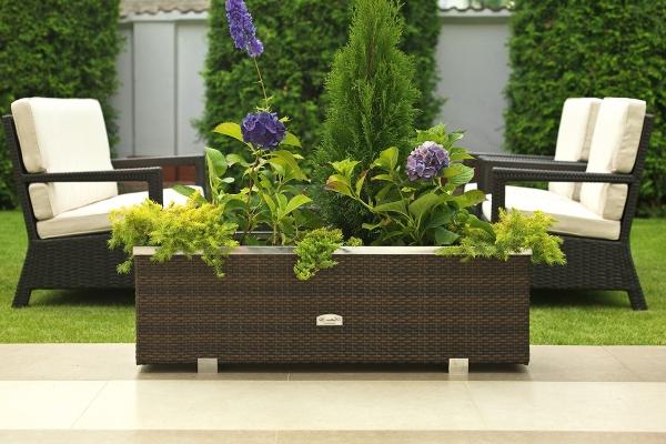 Rattan flower pots