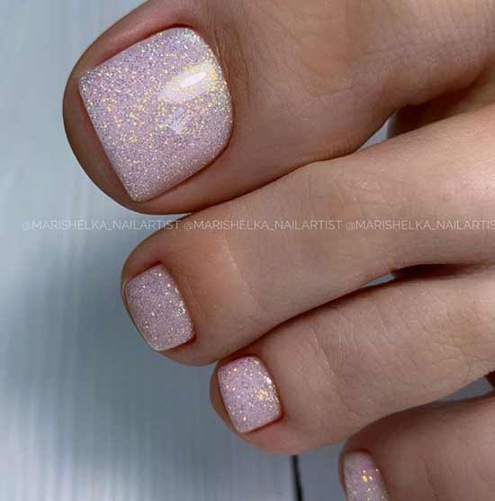 Gentle glitter pedicure