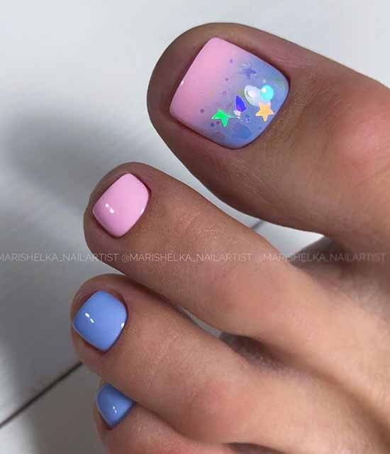 Pedicure with shining decor