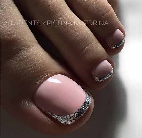 Brilliant pedicure: 100 new photo ideas, fashion design