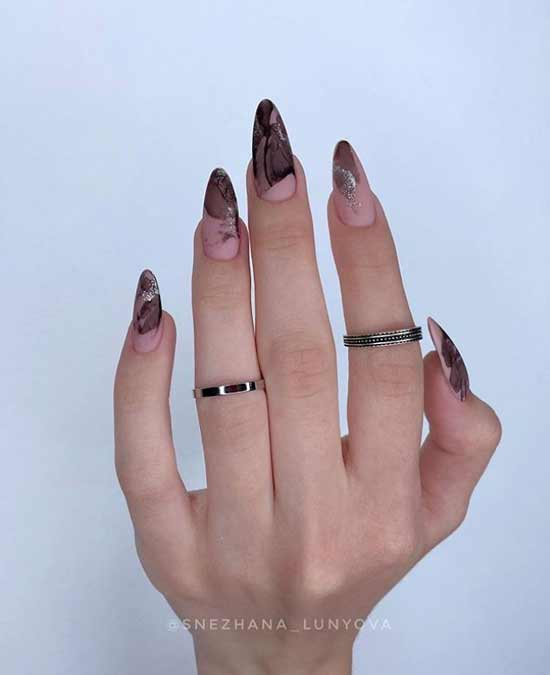 Black glitter design