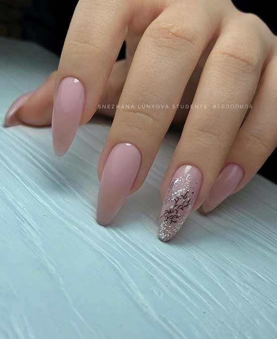 Delicate glitter design
