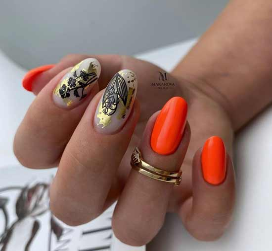 Nail design with stickers