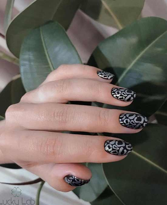 Black with stamping