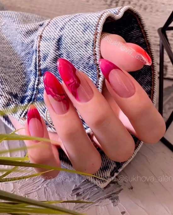 Red autumn manicure