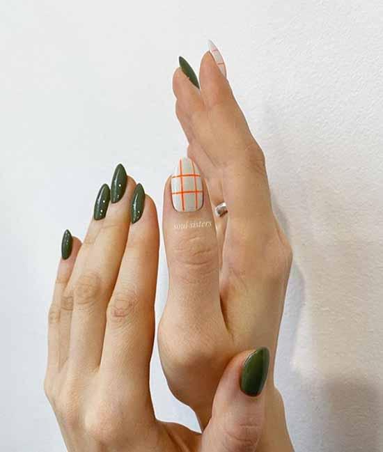 Autumn green nail designs