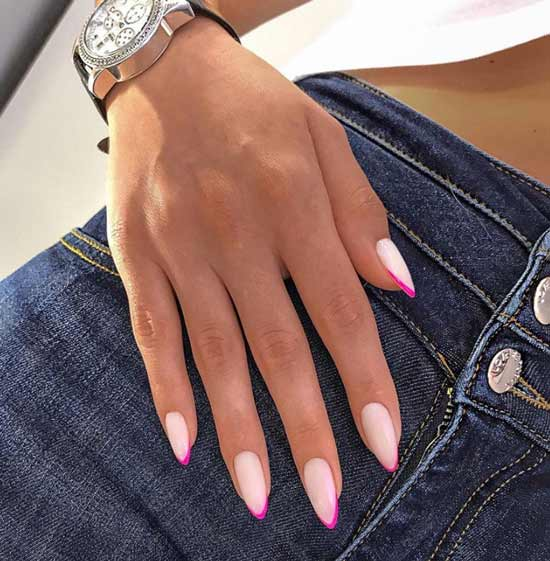 Neon jacket on sharp nails