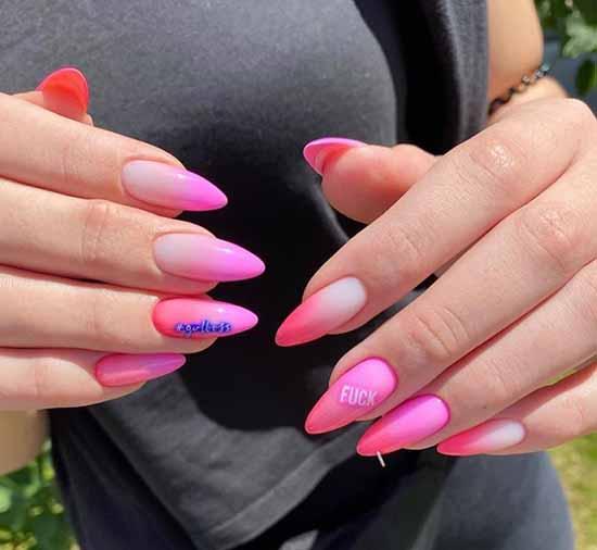 Bright French 2021: photo novelties of bright nail design