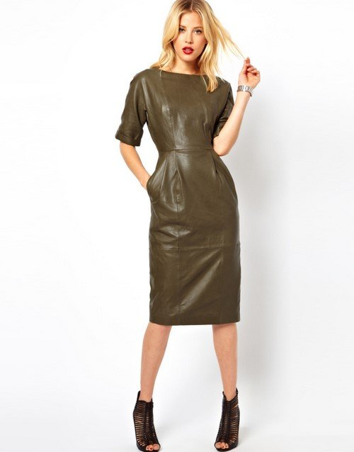 Leather dresses - a spectacular outfit for spectacular women