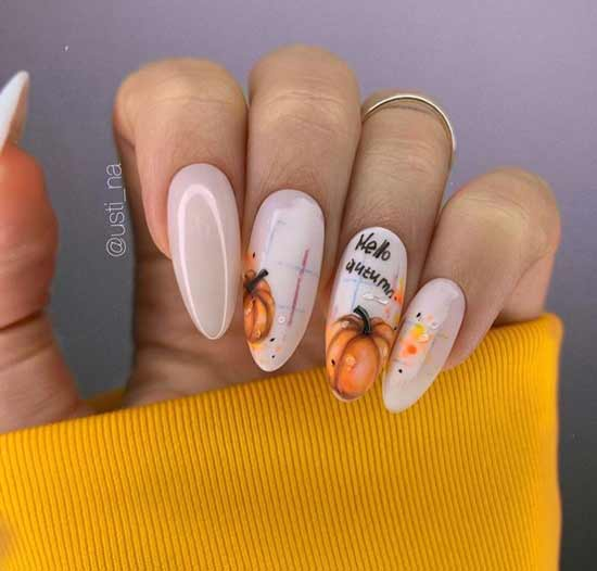Manicure with fruits