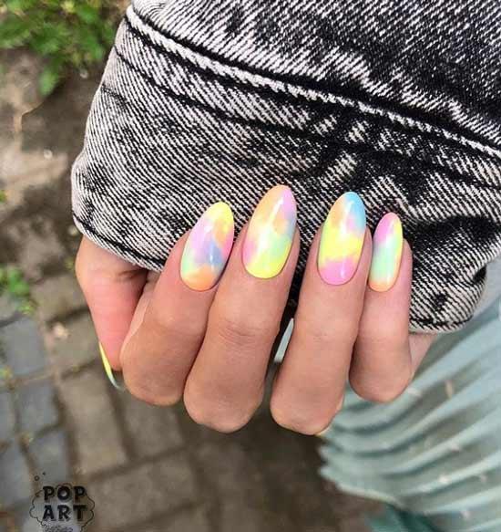 Gradient in pastel colors
